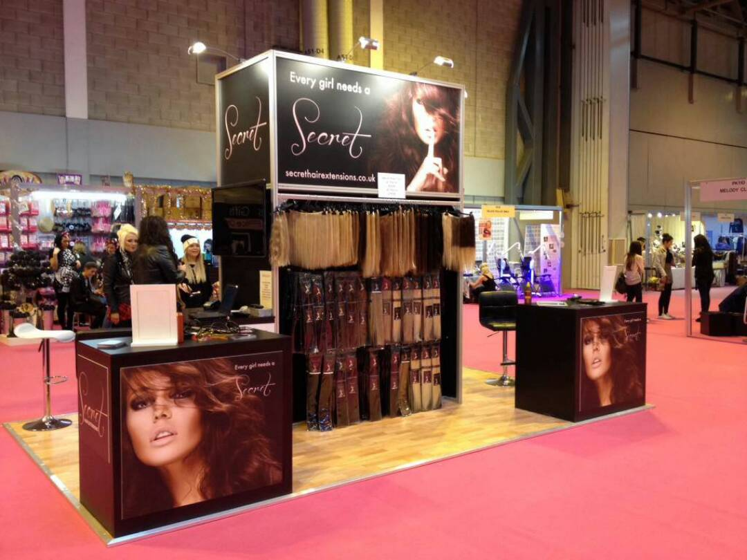 Hair Expo Stands : Secret hair extensions the clothes show live