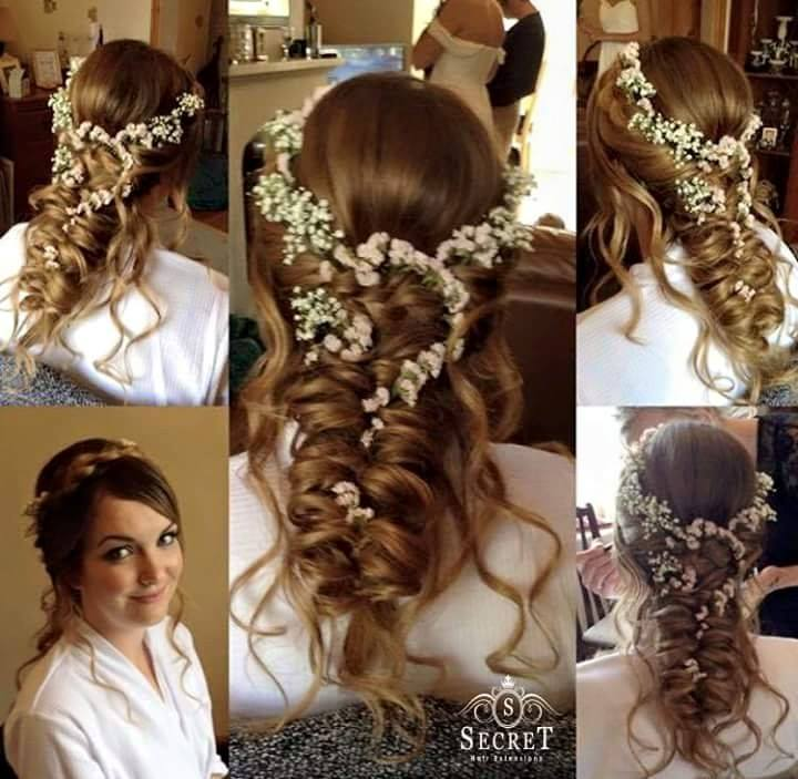 Wedding Hairstyle With Hair Extensions: Clip In Hair Extensions For Bridal Hair.